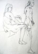 Lubomyr Mudretzkyj 1927-2001 Wien Zeichnung-5 weiblicher Akt 1987 Karl Hoffmann