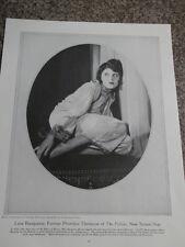 1928 Lina Basquette Theatre Magazine Publication Print
