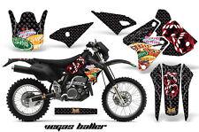 Dirt Bike Graphics Kit Decal Sticker Wrap For Kawasaki KLX400 00-16 VEGAS BLACK