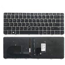 New Backlit Keyboard for HP Elitebook 745 G3 G4 840 G3 G4 848 G3 G4 With Frame