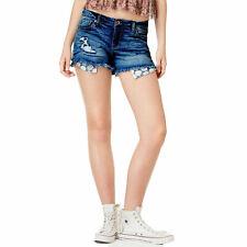 American Rag Juniors Little Falls Ripped Exposed Pocket Denim Shorts AR Benji