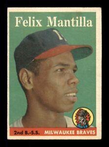 1958 Topps Set Break # 17 Felix Mantilla VG-EX *OBGcards*