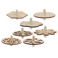 7pcs Unfinished Wood Peg-Top Spinning Top Gyro Toys Kids Craft DIY Painting
