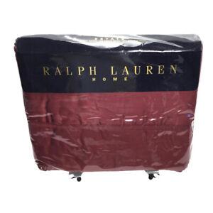 Ralph Lauren King Estate Flat Sheet Sateen 100% Cotton Red Damask-NIP!