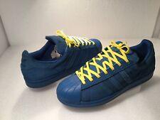 Adidas Men's Superstar Athletic Shoes Size 11M Blue Suede ATR AQ4165