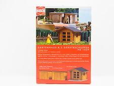 LOT 17060 | Busch HO 1529 Gartenhaus & 2 Geräteschuppen Bausatz NEU in OVP