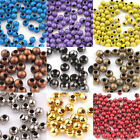 Hot Muti- Color  Metal  Loose Spacer Round Big  Hole Beads Jewelry 20/50/100Pcs