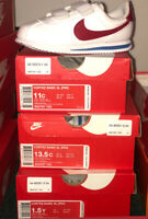 Nike CORTEZ BASIC SL (PSV) Kids Pre School 13.5C White/Varsity Red Forrest Gump