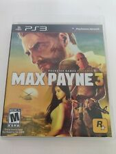 MAX PAYNE 3 Playstation 3 PS3 Complete  w/ Manual