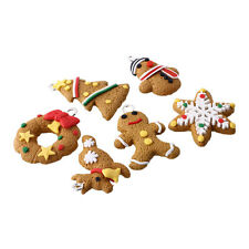 New Cute 6Pcs Polymer Clay Fimo Christmas Keychain Hanging Ornament Gift