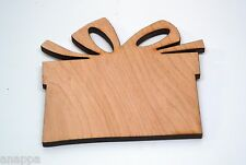 Blank Wooden Present Cutout, Gift Tags for Christmas, Birthday - Unique!