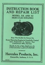 Hercules Model XK XI Engine Instruction Repair Book Gas Motor Flywheel