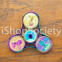 Penny Fidget Tri Spinner Figet Spinners EDC Gyro Anxiety Toy ADHD -USA- RAINBOW