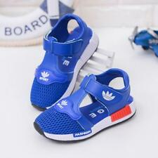 Girls Boys Summer Close Toe Mesh Sandals Toddler Kids Walk Sport Beach Shoes Hot