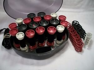 Remington Protect & Shine Hair Hot Rollers Wax Core Velvet Flocked W/Clips 1203