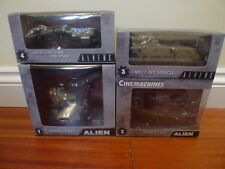 Neca Alien Aliens Cinemachines Full Set of 4 Series 1 die-cast model vehicles BN