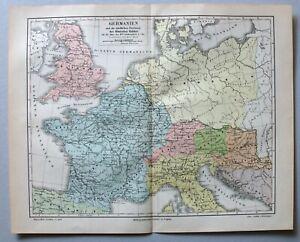 Germanien u.d. nördlichen Provinzen des Römischen Reichs - Lithographie um 1890