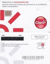 ARGENTINA Claro GSM(nano sim) mint