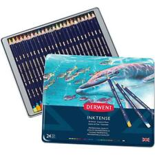 NEW IN TIN 24x Derwent Inktense Colour Pencils Assorted Mix With Water