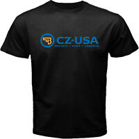 CZ-USA Firearms Handgun 1911 Pistol Police Hunting Guns Black T-shirt Size S-5XL