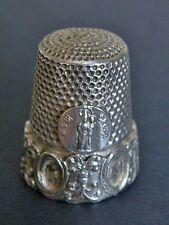 ANTICO Ditale argento OROPA BIELLA COLLECTOR Sterling Silver Thimble De Argent