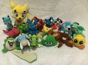 2004 Mcdonalds Neopets Plush Lot Of 21 Toys Stuffed Animals Ixi Gelert Flotsam