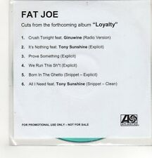 (GH567) Fat Joe, Loyalty album sampler - DJ CD