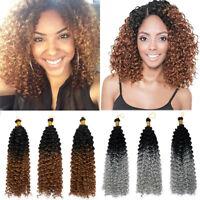 Curly Loop Twist Crochet Braids Synthetic Braiding Hair Extensions As Human Hair