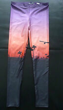 WE ARE HANDSOME The Landing LEGGINGS Airplane M SUNSET Palm Trees LUXURY New