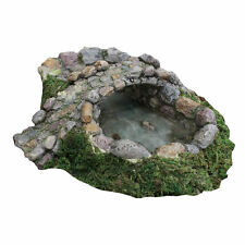 Miniature Fairy Garden STONE POND AND BRIDGE (NIP)
