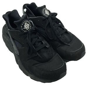 Nike Air Huarache Mens Size 12 Black Lace Up Mid Top Running Shoes 318429-003