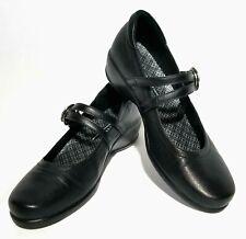 Aravon Tonya Mary Jane Shoes Black Leather WST06BK Women Size 7