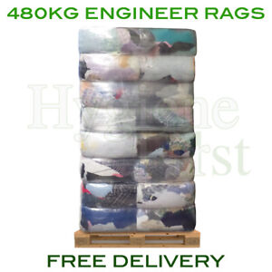 480kg Pallet Engineer Industrial Mechanics Cloths Wipers Wiping Cleaning Rags