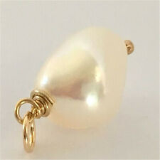 11-12mm huge white Baroque pearl pendant 18k AAAA fashion Accessories Women