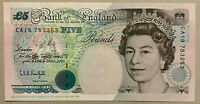 UK (Great Britain)  5 pounds 1990 Queen Elizabeth II, Stephenson P# 382 UNC
