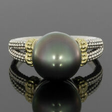 Lagos Luna Mixed Metals Tahitian Pearl Solitaire Ring MSRP: $595