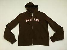 Hurley Womens Size Small Brown Full Zip Hoodie Sweatshirt Good Condition