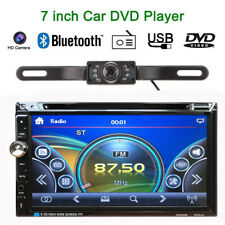 "2 Din 7"" HD Stereo Car DVD CD MP3 Player Bluetooth Radio TF/USB HD Rear Camera"