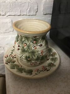 Yankee Candle Ceramic Tart Warmer And Plate Garden Ivy