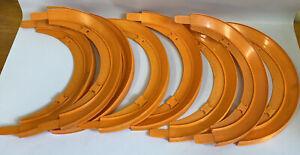 1969 Hot Wheels Hot Turn 180 Degree Curved Banks Track Redline Lot Of 8 Orange