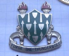 Armor School/Forge the Thunderbolt/US Army Crest... pin (171f)
