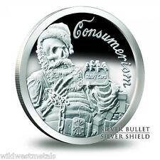 2013 Consumerism/ Santa Slave Proof - 1OZ .999 Silver Shield/ SBSS Original