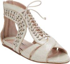 Miu Miu Tan Brown Leather Lace-up Gladiator Sandals Size 6