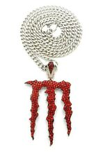 """LETTER M PENDANT WITH 6mm 30"""" CUBAN CHAIN"""