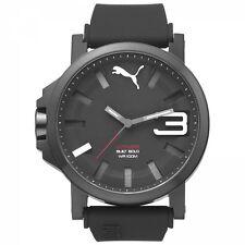 Puma Herrenuhr Uhr Ultrasize Schwarz Weiß 10 ATM 50 mm Groß PU103911005