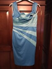 BNWT Debenhams STAR By Julien MacDonald Fan Detail Satin Dress, Size 12