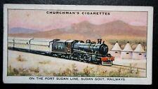 Sudan Government Railways  Big Game Hunting Tourist Train   Vintage Card  VGC