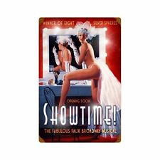 Showtime Broadway musical pin up girl rétro vintage sign tôle bouclier bouclier NEUF