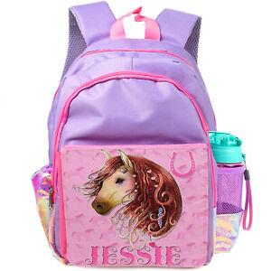 Personalised Girls Backpack Horse School Bag Childrens Kids Pony Rucksack KS237