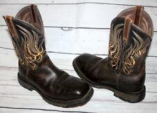 Ariat Workhog Waterproof Comp Toe Met Guard Work Men's Boots 8 D 10010892 Brown